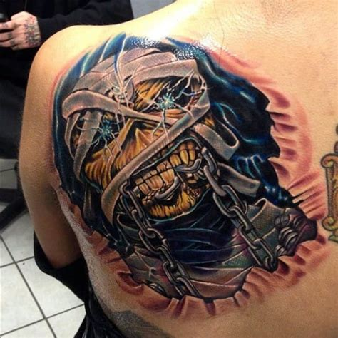 metal tattoo 19 killer eddie tattoos for iron maiden fans tattoodo