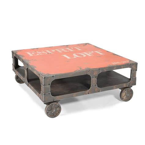 Coffee Tables With Wheels Crate On Wheels Coffee Table Blue