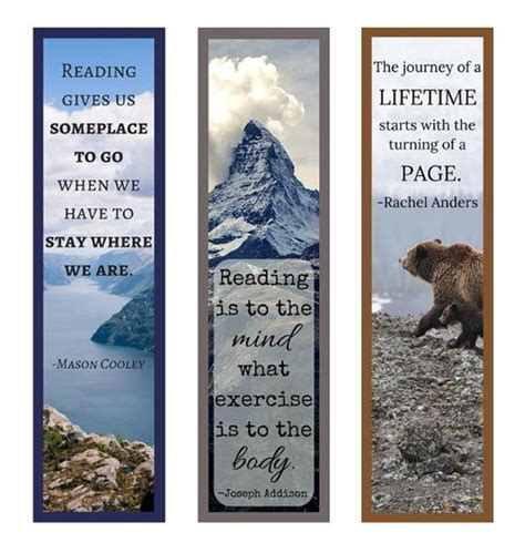 free printable bookmarks with quotes book quotes printable bookmark set allfreepapercrafts com
