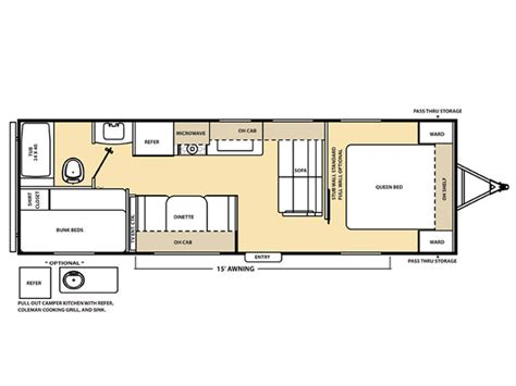 catalina rv floor plans coachmen catalina 273bh rvs for sale