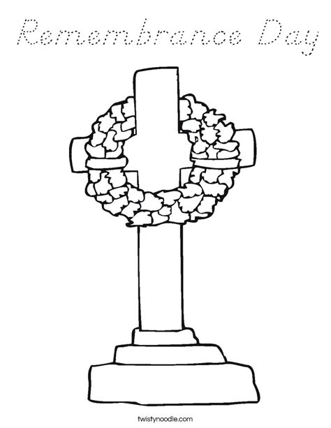 Remembrance Day Coloring Page D Nealian Twisty Noodle D Day Coloring Pages