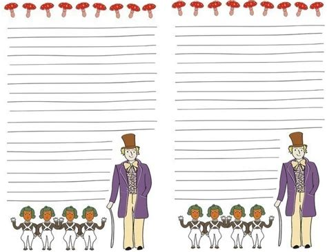 printable writing paper sets charlie and the chocolate factory stationery and sticker
