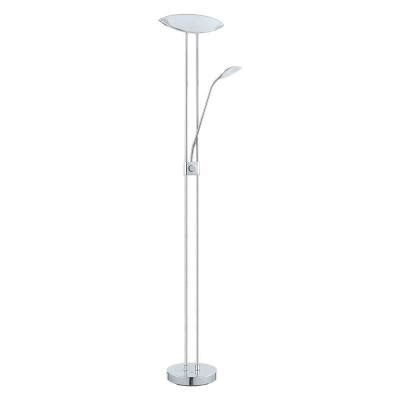eglo baya 1 70 87 in chrome led floor l 93875a the
