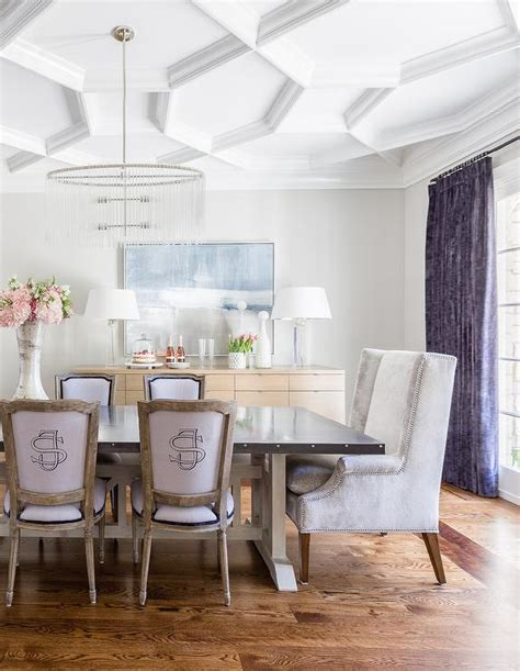Dining Room Modern Chandeliers by Geometric Coffered Ceiling Design Ideas