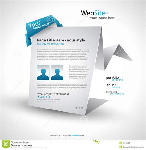 Origami Website - origami website design stock photography image