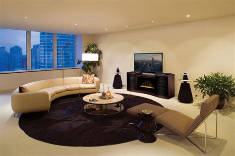 electric fireplace entertainment center living room with