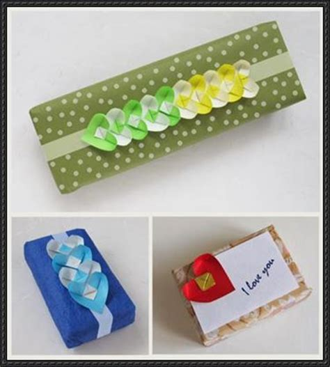 Folded Paper Chain - gift card papercraftsquare free papercraft