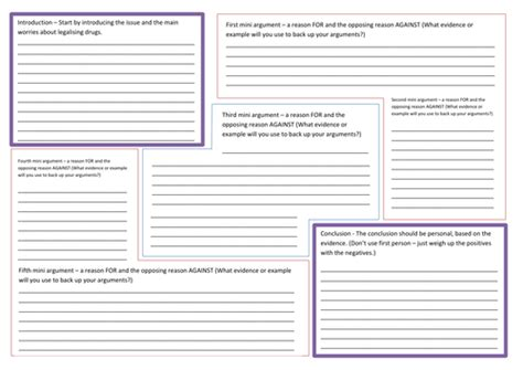 newspaper layout tes balanced argument planning template connectives by