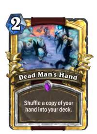 dead man's hand hearthstone wiki