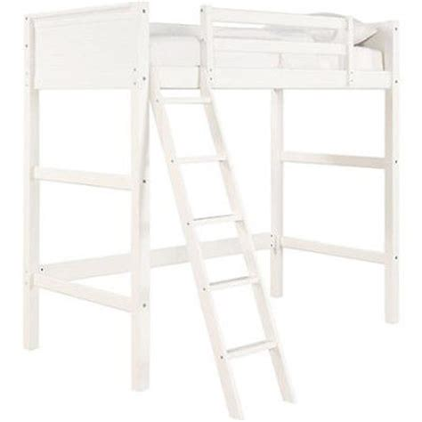 white wood loft bed twin bunk loft bed over desk with ladder kids teen bedroom