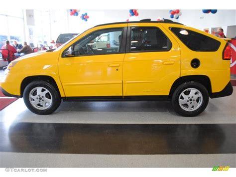 Aztec Yellow 2002 Pontiac Aztek Standard Aztek Model