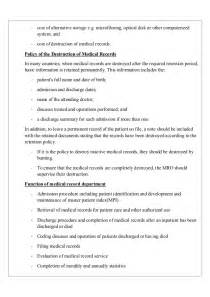 Electronic Data Retention Policy Template by Record