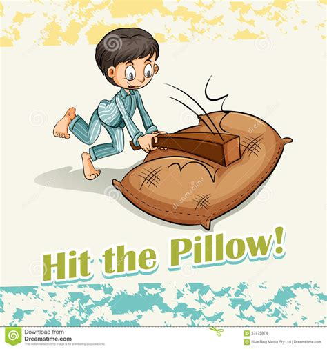 Hit The Pillow idiom hit the pillow stock vector image 57975874