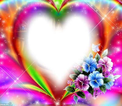 cornici fotomontaggi fotomontaggio cuore e fiori pixiz