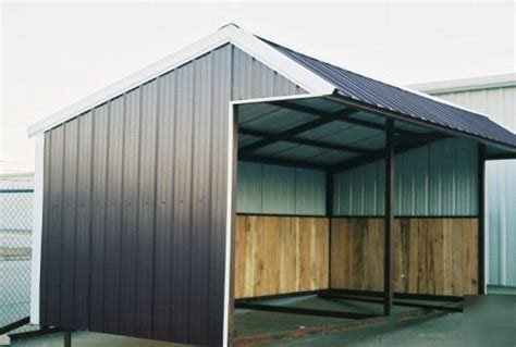 Metal Loafing Shed by 12x24 Premium Portable Steel Loafing Shed No