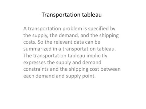 Mba In Transport And Logistics by Mba I Qt Unit 1 2 Transportation Assignment And