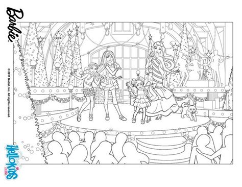 barbie s christmas show coloring pages hellokids com