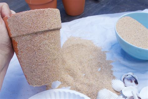 how to make sand covered pots the everyday home