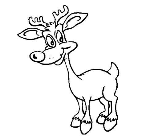 dibujos navideños para pintar renos dibujo de reno joven para colorear dibujos net