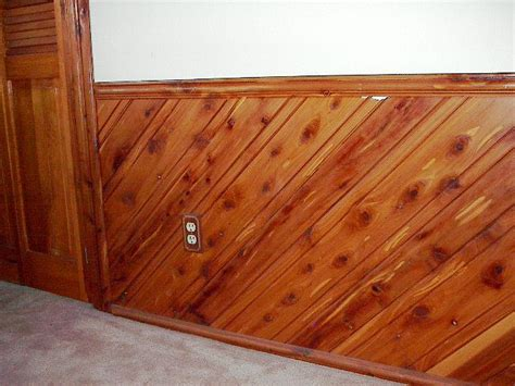 Cedar Wainscoting Wainscot Chair Rail Picture Image By Tag
