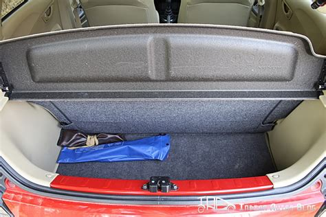 honda brio boot space review honda brio review day 2 interiors
