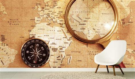 world map wallpaper mural  offices