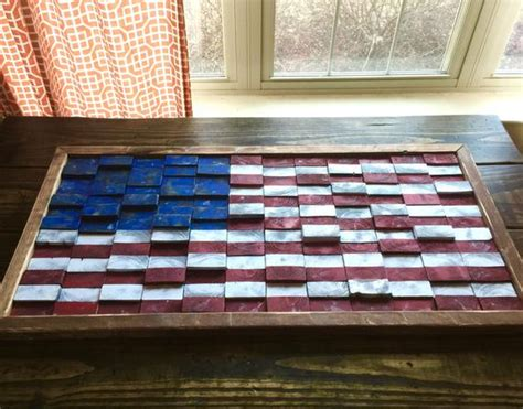 rustik 2x4 dimensions wooden american flag rustic 2x4 45x23 by restoration317 on etsy