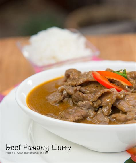 Panang Curry Taste thai food beef panang curry recipe healthnut nation