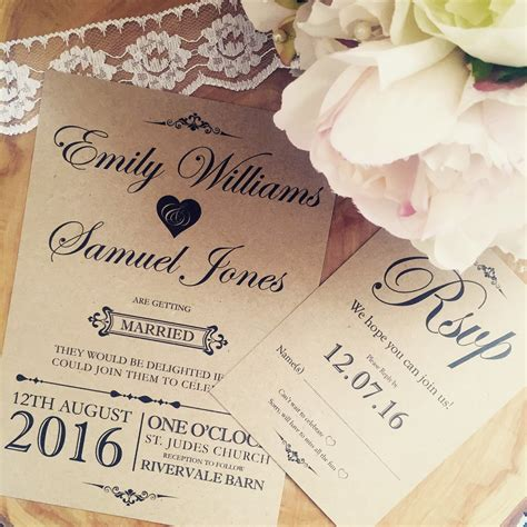 Handmade Wedding Invitations Rustic - handmade wedding invitation rustic wedding invitation