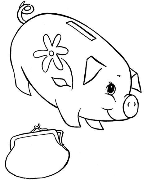 piggy bank coloring page az coloring pages
