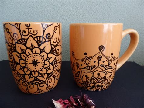 cool mug drawings www imgkid com the image kid has it hand drawing mandala mugs set of 2 original drawing cup