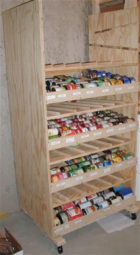 canned food storage pantry and design on pinterest storage shelves for garage plans easy wood shelf design