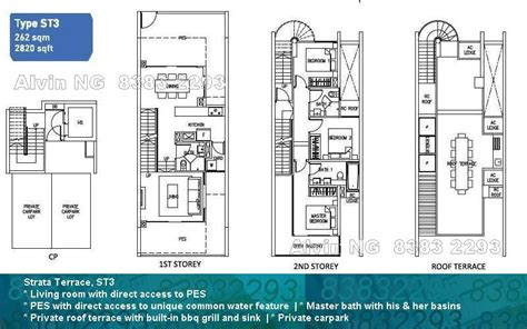 singapore cluster house floor plan house interior