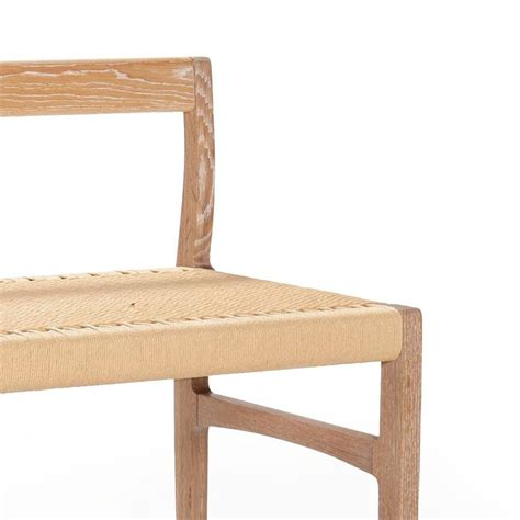 woven bench giacomo bench with back solid white oak with hand woven