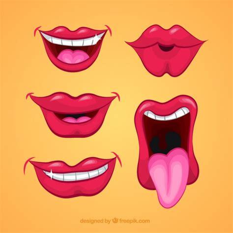 imagenes de bocas rojas cartoon bocche scaricare vettori gratis