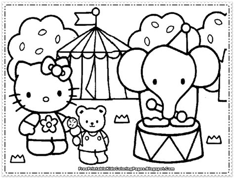 Hello Kitty Coloring Pages For Girls Free Printable Kids Printable Coloring Pages For Hello