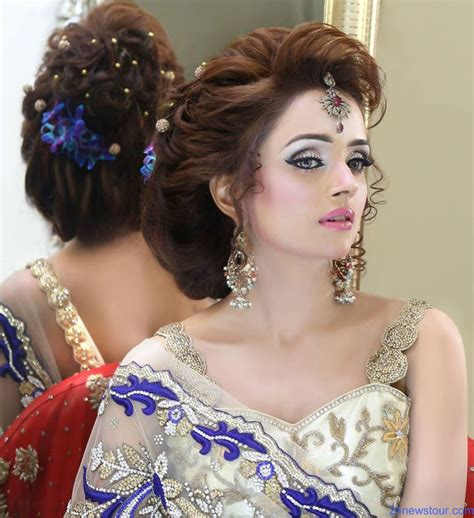 In Style Hairstyles by Kashif Aslam S Bridal Makeup Hairstyles 24 Newstour