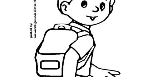 mewarnai gambar mewarnai gambar sketsa kartun anak muslim 37