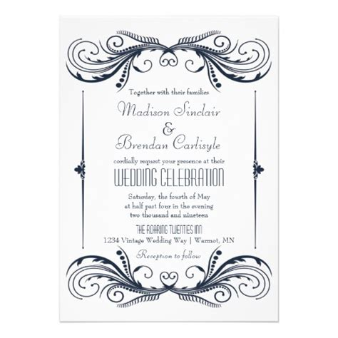 personalized roaring 20s invitations custominvitations4u