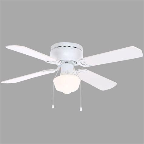 Hton Bay Littleton 42 In Indoor White Ceiling Fan With Ceiling Fan Light Kit White