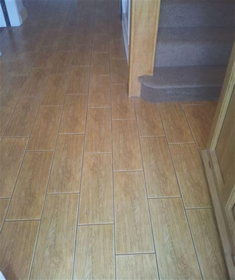 wood effect floor tiles for a hallway wood effect