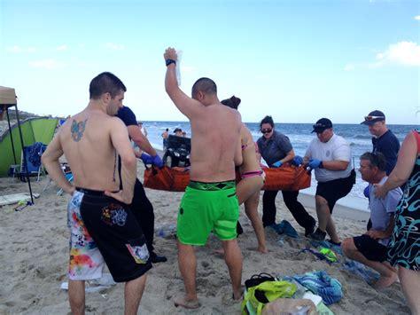 2015 beach shark attack oak island nc 2 teens severely injured in shark attacks