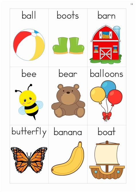 Words That Begin With The Letter B words that begin with the letter b free phonics letter