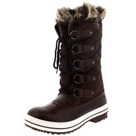 womens snow boot winter snow waterproof fur