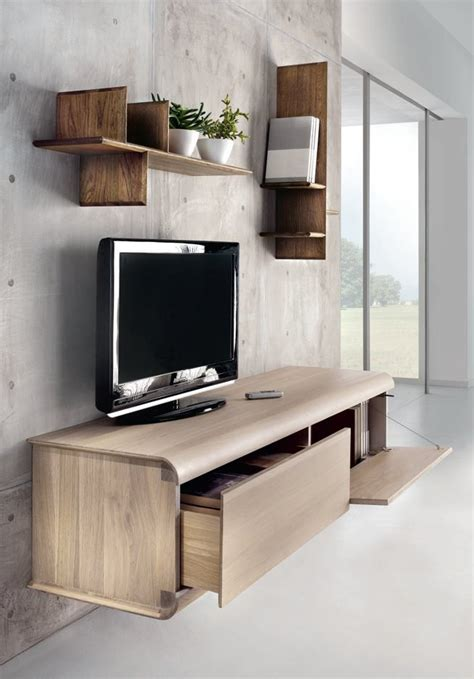 wall mounted tv cabinet wall mounted oak tv cabinet curve by domus arte design