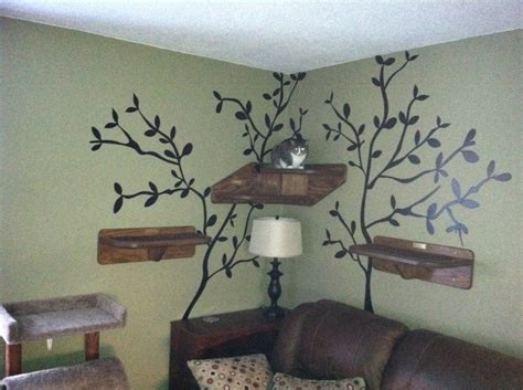 Cat Shelf Wall by Cat On Wall Shelf Cat Stuff Trees Cats And Shelves
