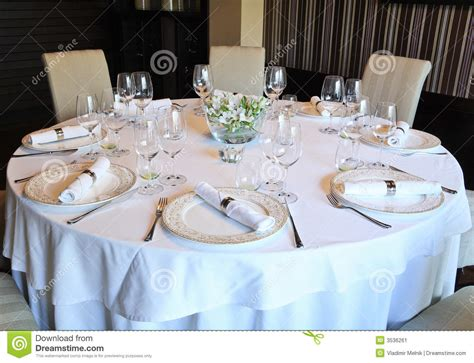 fancy place setting fancy table set for a dinner royalty free stock photo