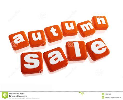Orange Sale by Autumn Sale Text In Orange Cubes Stock Photos Image