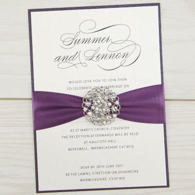 Classic Wedding Invitation Cards by Bespoke Wedding Invitations Stationery Free Sles