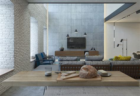 brick accent wall 3 chic modern eclectic spaces